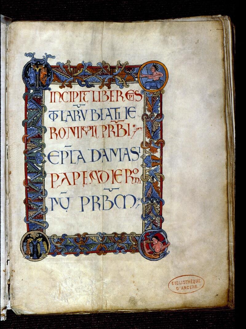 Angers, Bibl. mun., ms. 0154, f. 003 - vue 2