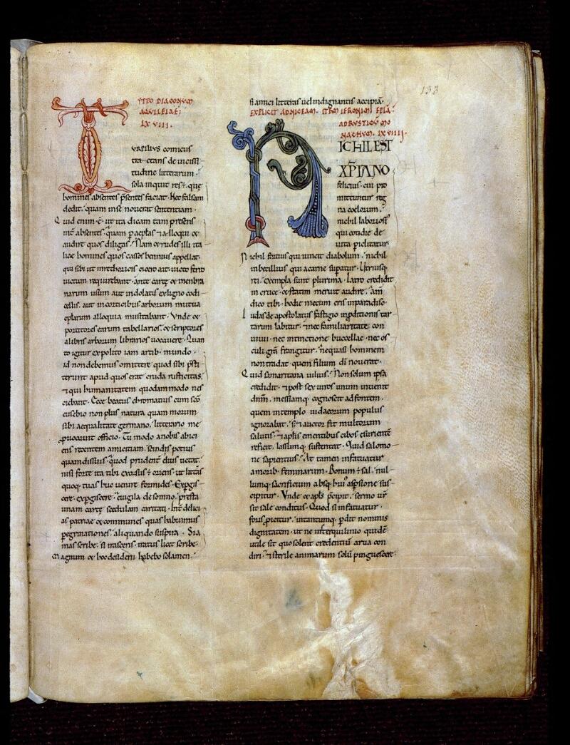 Angers, Bibl. mun., ms. 0154, f. 133 - vue 1