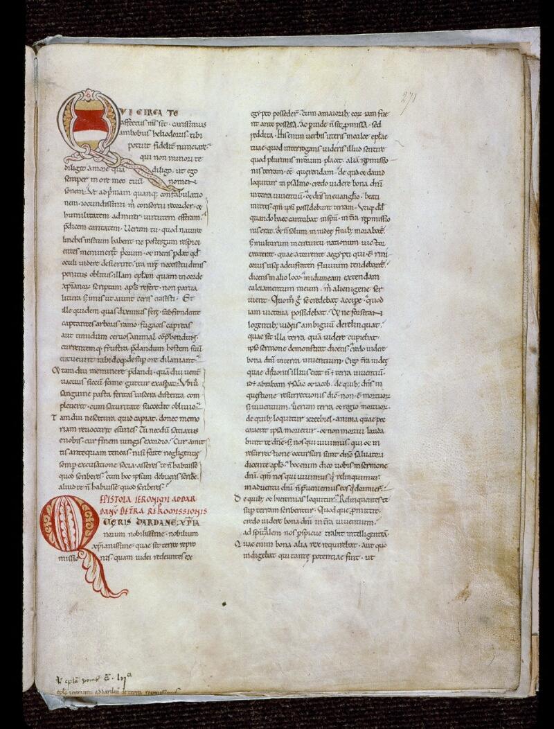 Angers, Bibl. mun., ms. 0154, f. 271