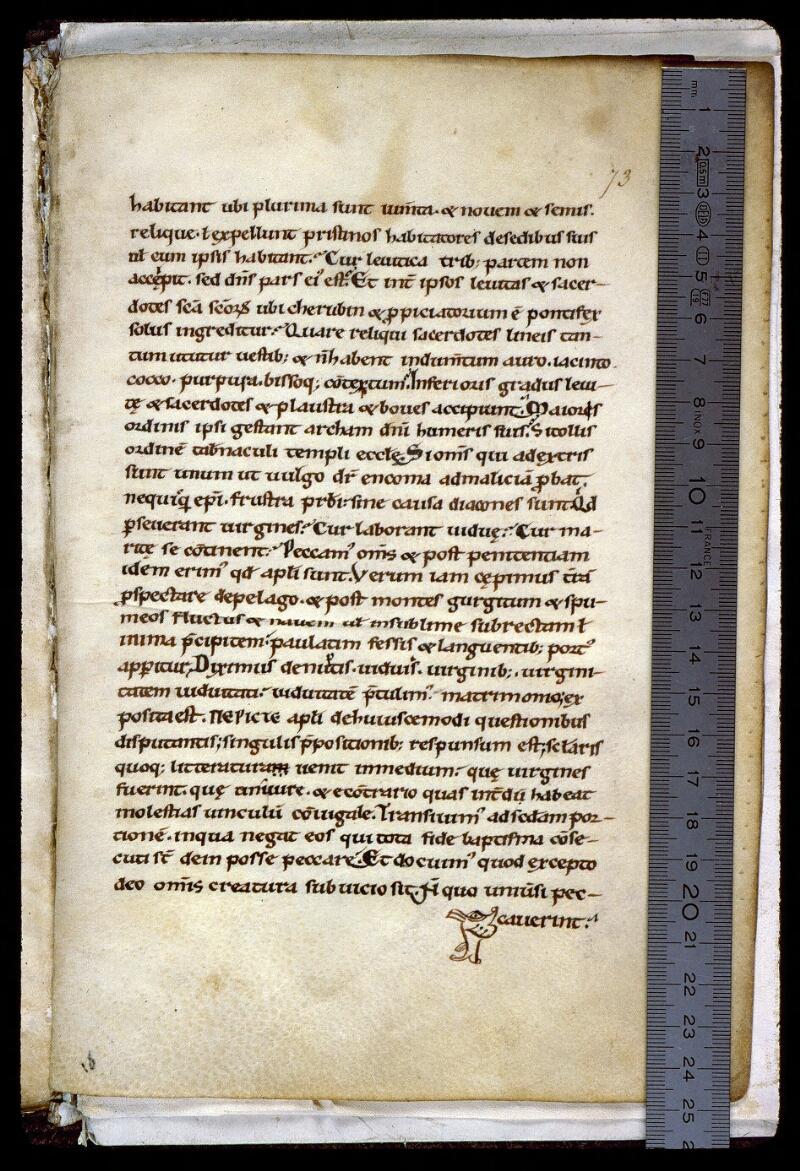 Angers, Bibl. mun., ms. 0155, f. 073 - vue 1