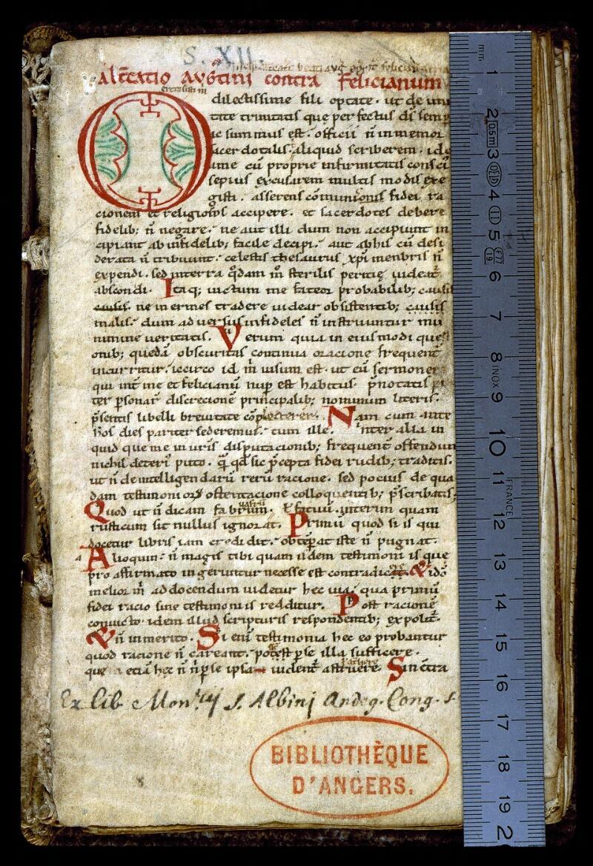 Angers, Bibl. mun., ms. 0160, f. 001 - vue 1