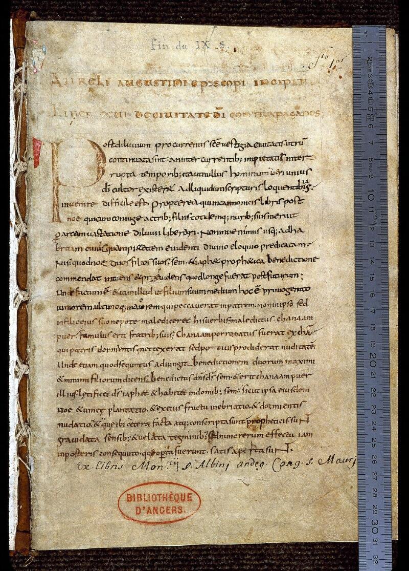 Angers, Bibl. mun., ms. 0161, f. 001 - vue 1
