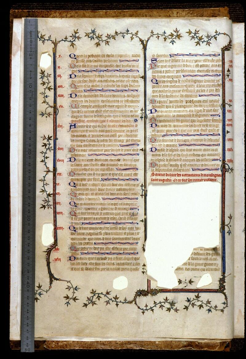 Angers, Bibl. mun., ms. 0162, f. 002v - vue 1