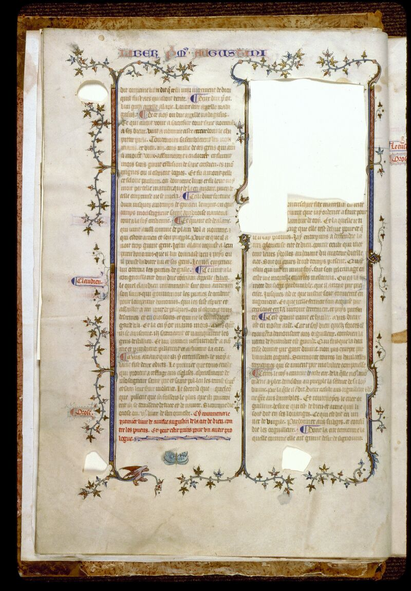 Angers, Bibl. mun., ms. 0162, f. 003v - vue 1