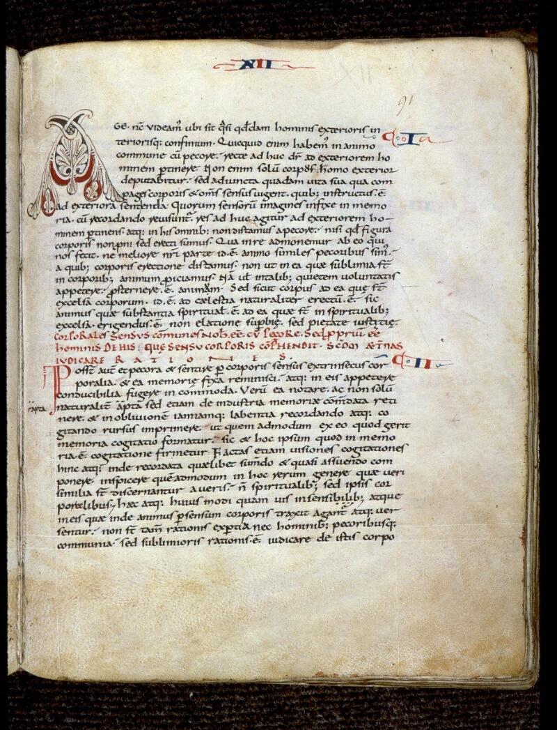 Angers, Bibl. mun., ms. 0164, f. 091 - vue 1