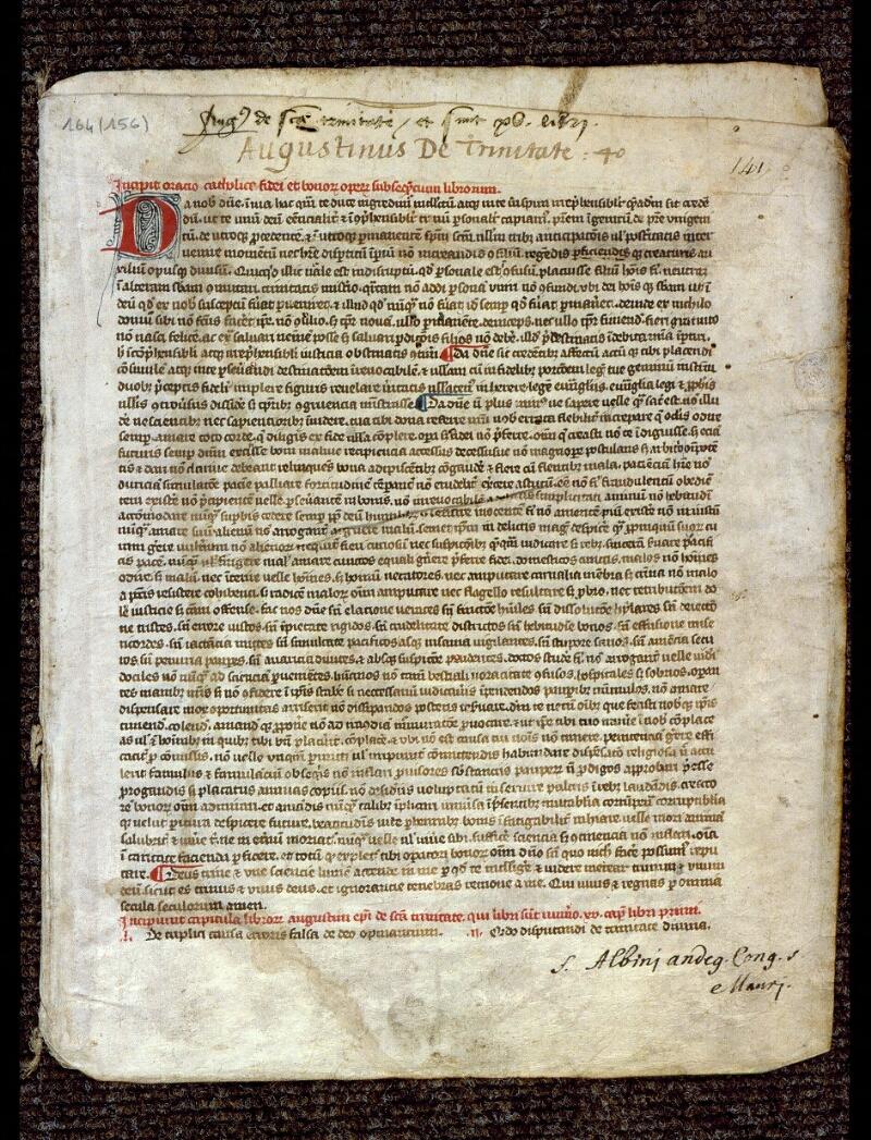 Angers, Bibl. mun., ms. 0164, f. 141 - vue 1