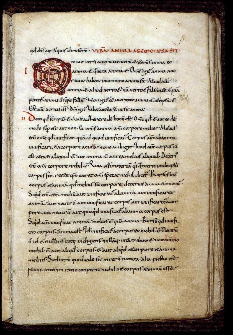 Angers, Bibl. mun., ms. 0165, f. 003 - vue 2