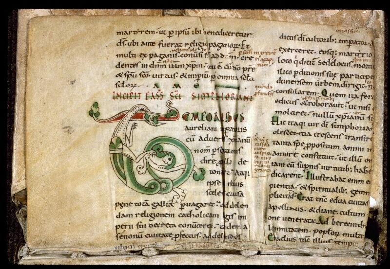 Angers, Bibl. mun., ms. 0166, f. 000Bv - vue 2