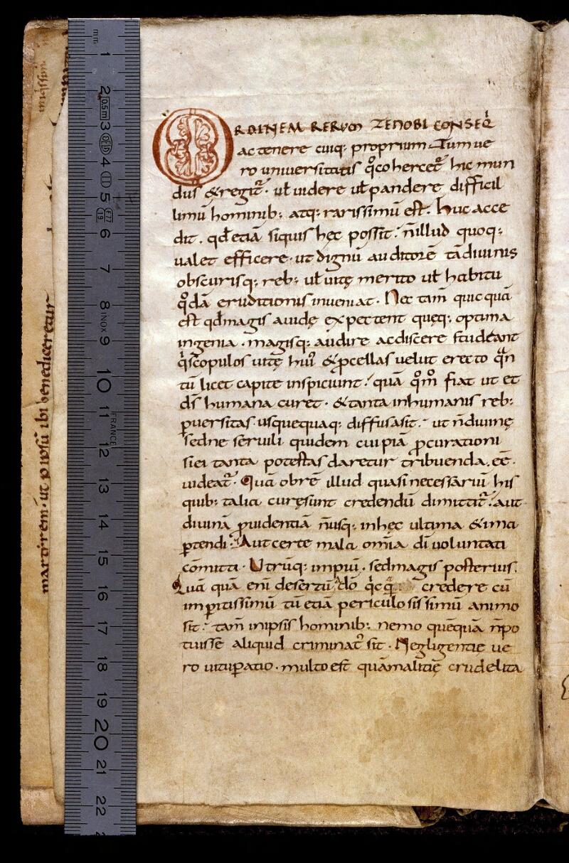Angers, Bibl. mun., ms. 0166, f. 001v - vue 1