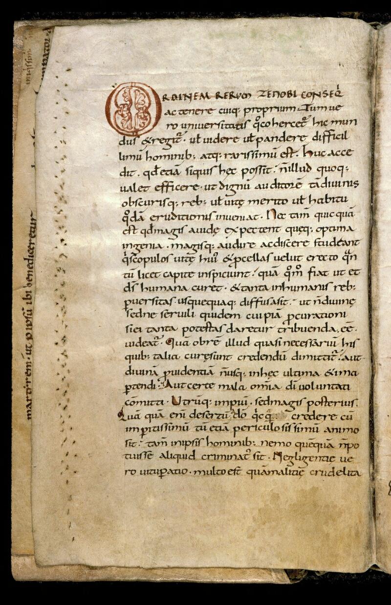 Angers, Bibl. mun., ms. 0166, f. 001v - vue 2