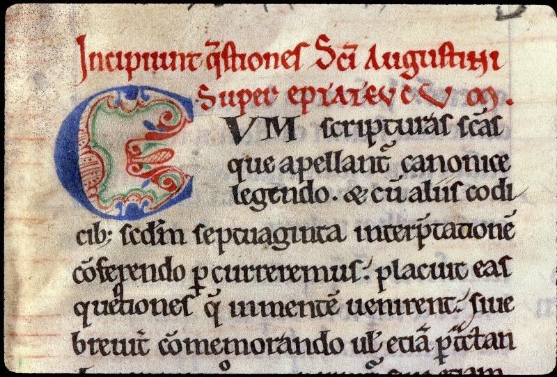Angers, Bibl. mun., ms. 0167, f. 001 - vue 3
