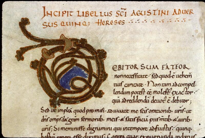Angers, Bibl. mun., ms. 0180, f. 001v - vue 3