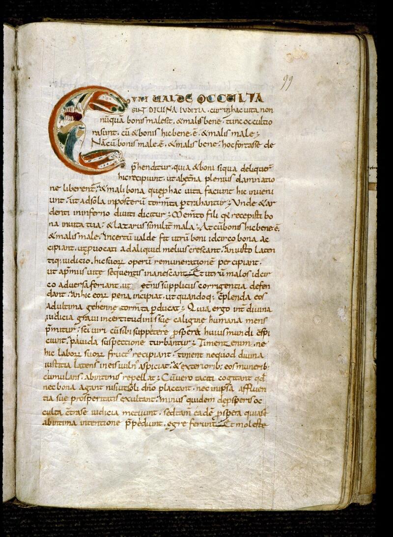 Angers, Bibl. mun., ms. 0183, f. 099 - vue 1