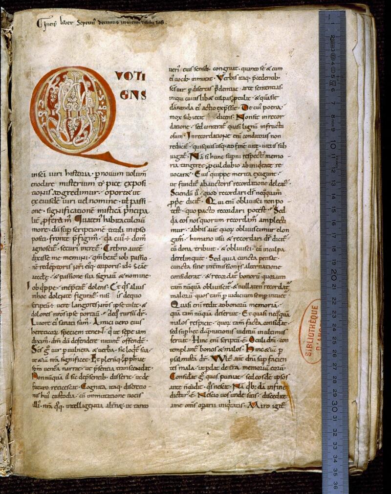 Angers, Bibl. mun., ms. 0187, f. 002 - vue 1
