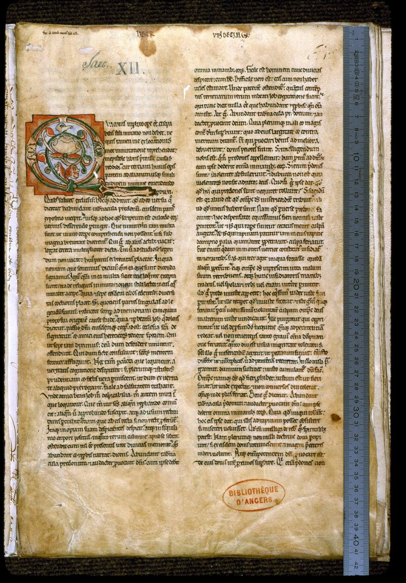 Angers, Bibl. mun., ms. 0188, f. 001 - vue 1