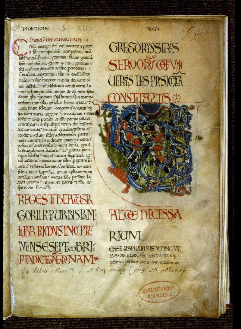 Angers, Bibl. mun., ms. 0194, f. 001 - vue 2
