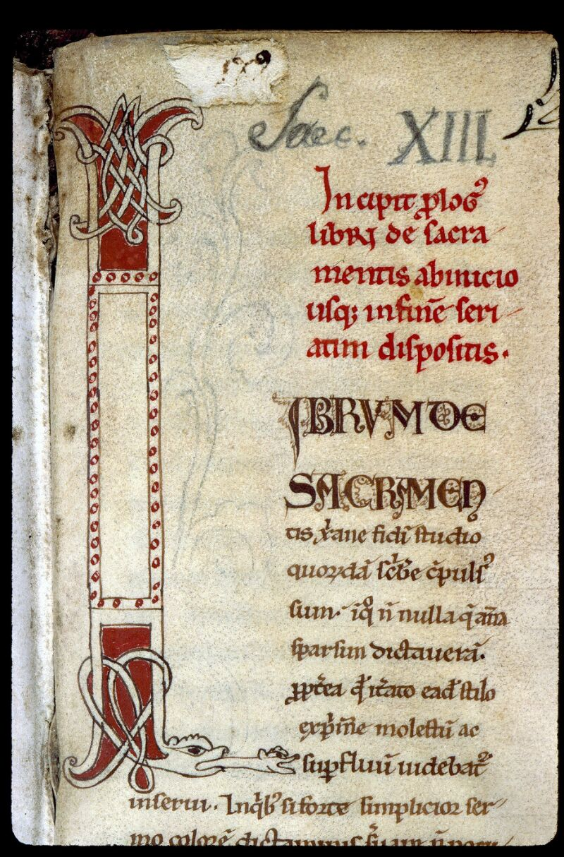 Angers, Bibl. mun., ms. 0196, f. 001 - vue 3