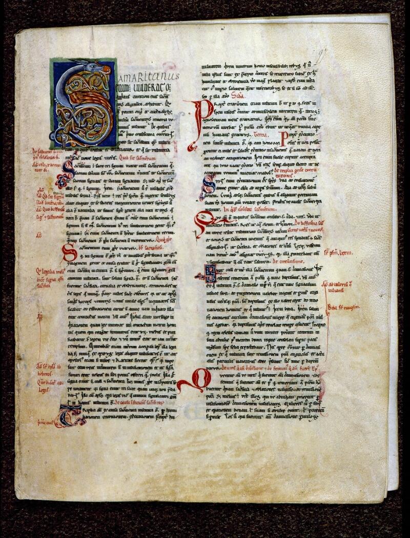 Angers, Bibl. mun., ms. 0199, f. 097 - vue 1