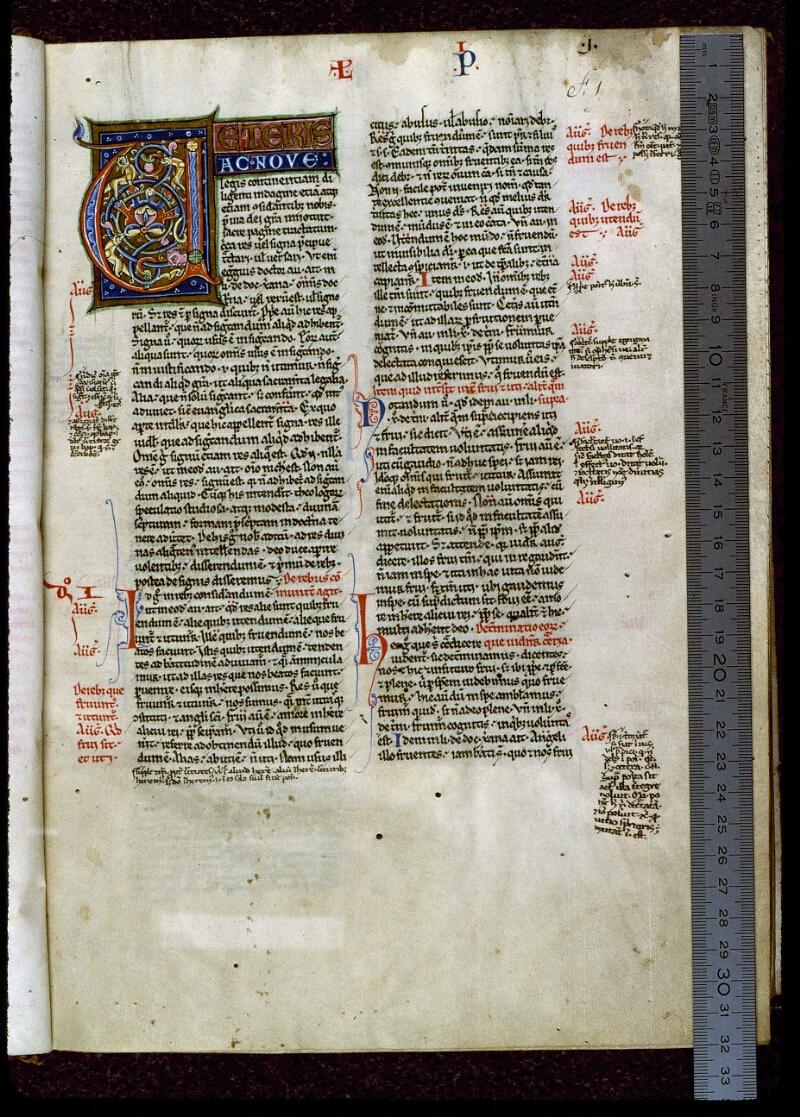Angers, Bibl. mun., ms. 0200, f. 001 - vue 1