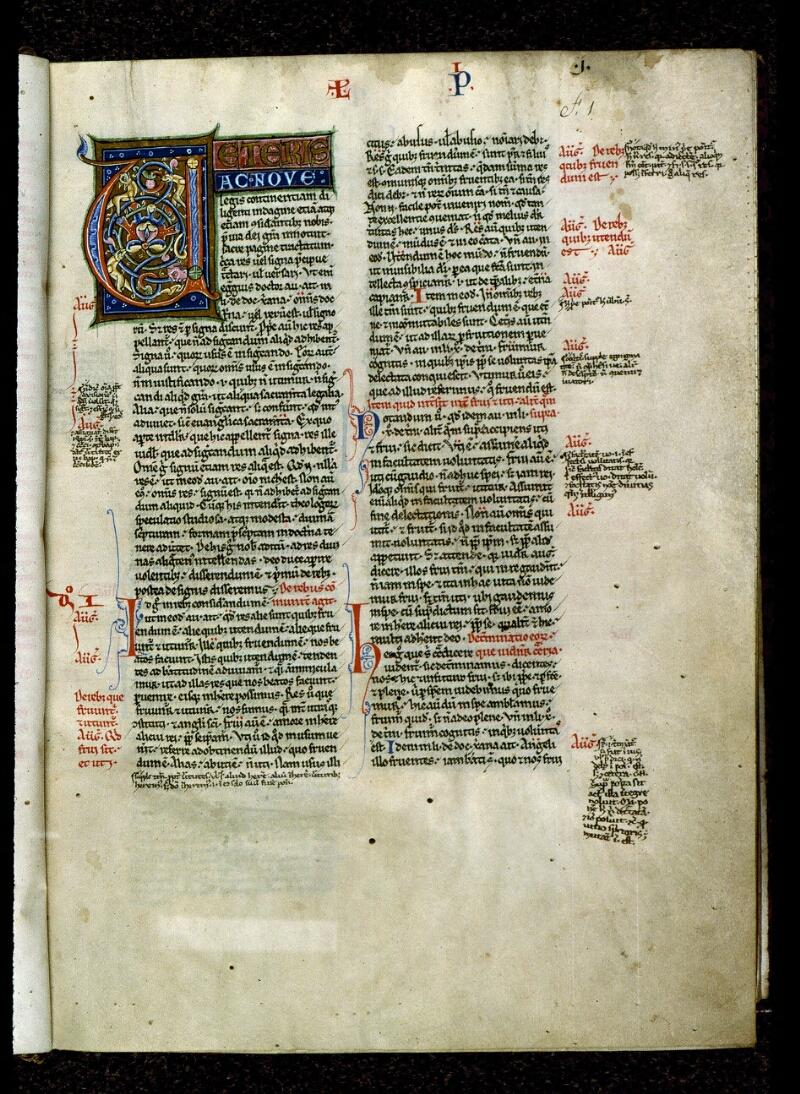 Angers, Bibl. mun., ms. 0200, f. 001 - vue 2