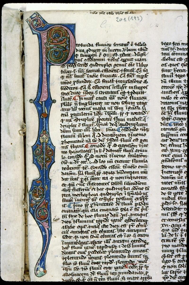 Angers, Bibl. mun., ms. 0201, f. 001 - vue 3