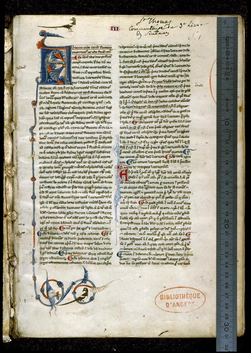 Angers, Bibl. mun., ms. 0206, f. 001 - vue 1