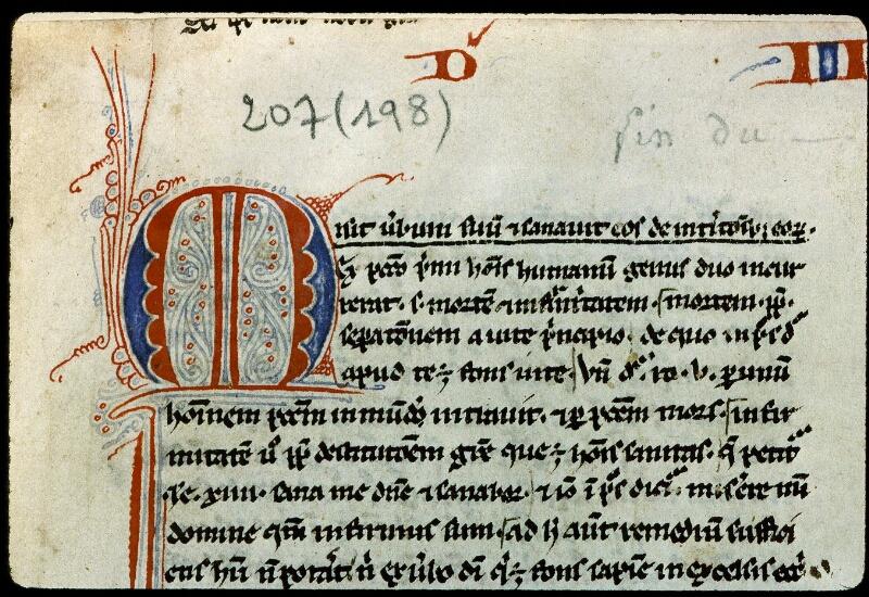 Angers, Bibl. mun., ms. 0207, f. 001 - vue 3