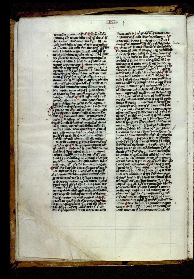 Angers, Bibl. mun., ms. 0208, f. 002v - vue 1
