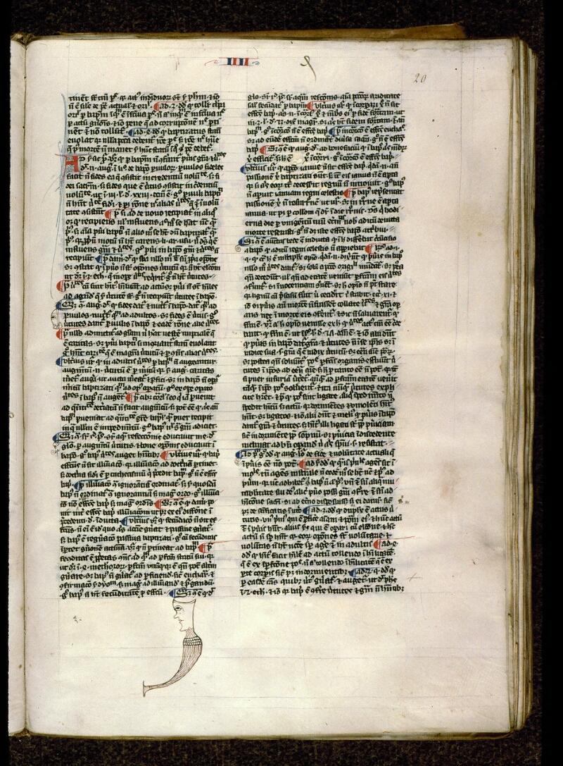 Angers, Bibl. mun., ms. 0208, f. 020 - vue 1