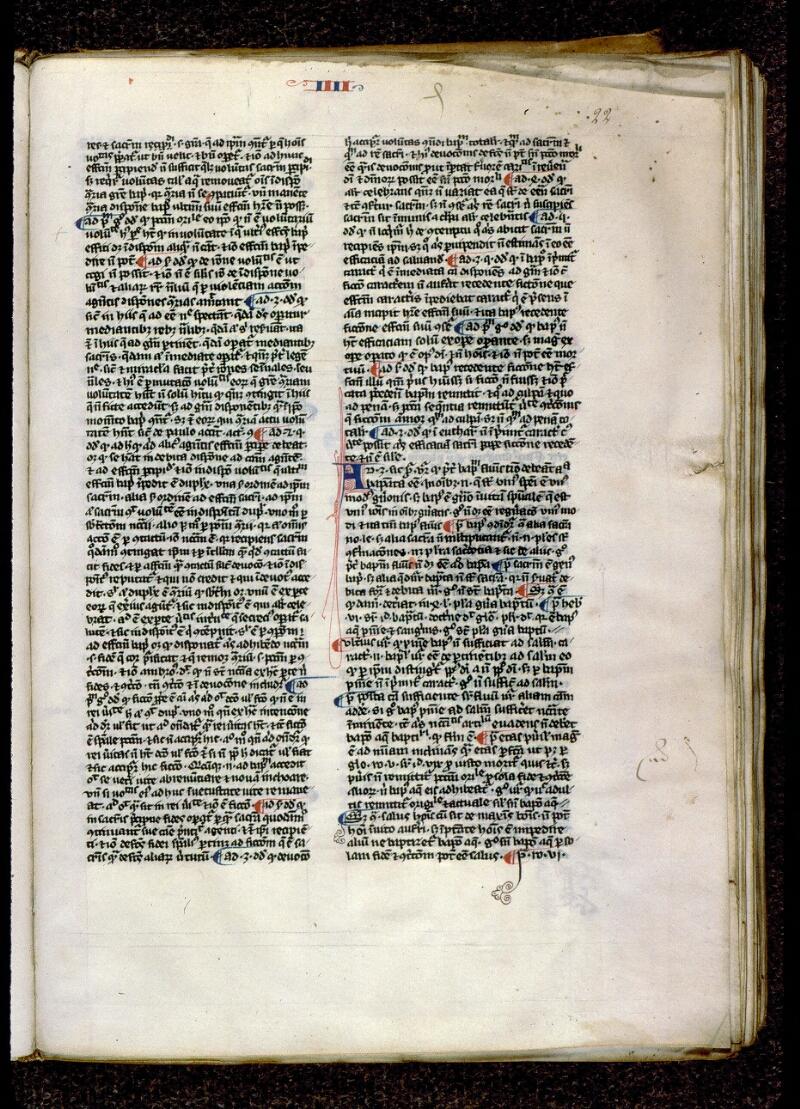 Angers, Bibl. mun., ms. 0208, f. 022 - vue 1