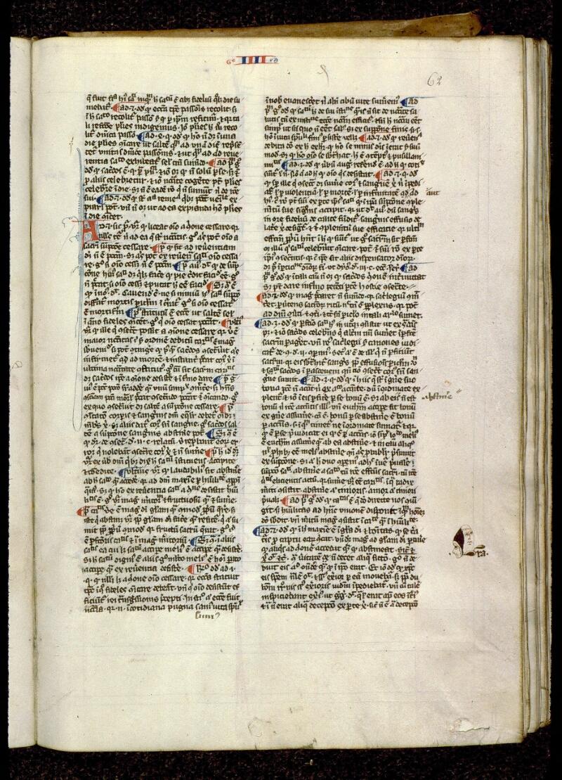 Angers, Bibl. mun., ms. 0208, f. 062 - vue 1
