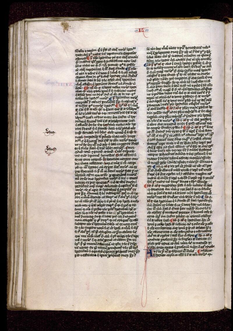 Angers, Bibl. mun., ms. 0208, f. 154v - vue 1