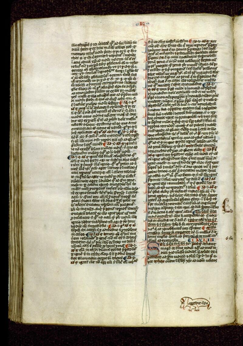 Angers, Bibl. mun., ms. 0208, f. 216v - vue 1