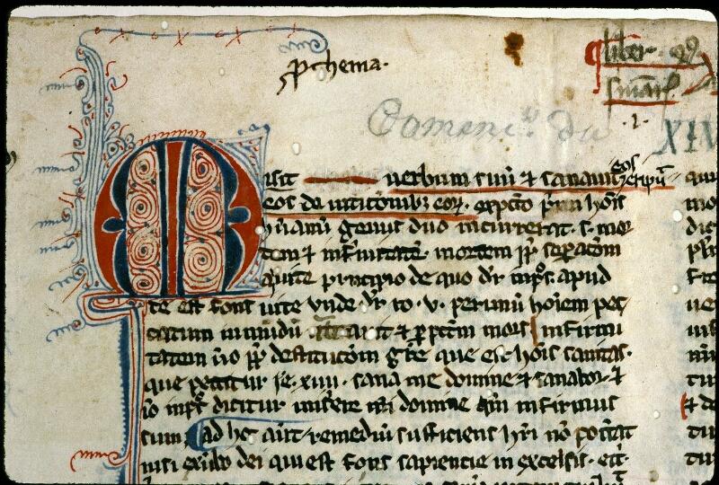 Angers, Bibl. mun., ms. 0209, f. 001 - vue 3