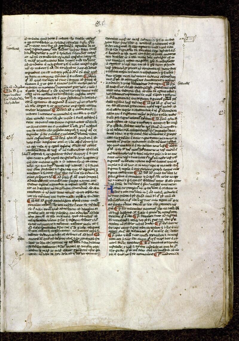Angers, Bibl. mun., ms. 0209, f. 003 - vue 1