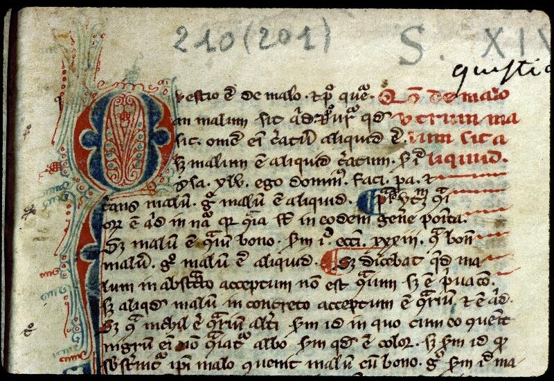 Angers, Bibl. mun., ms. 0210, f. 001 - vue 3