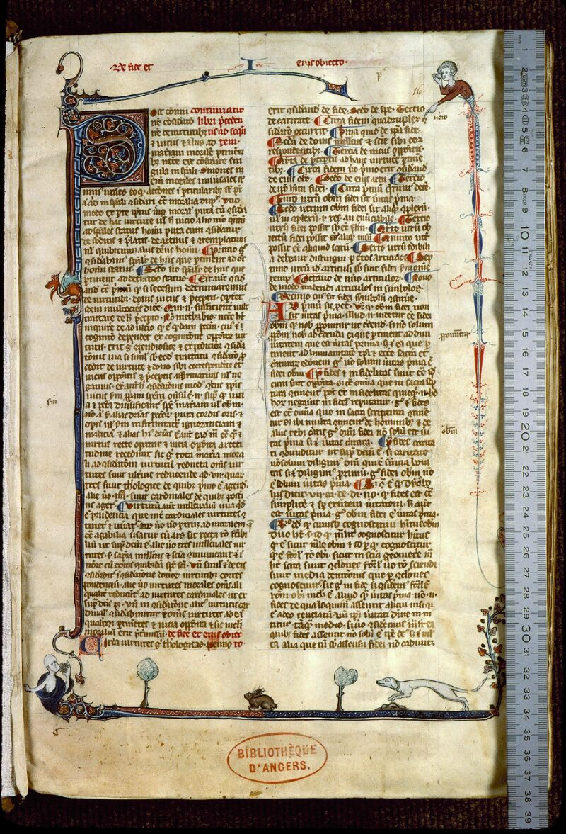 Angers, Bibl. mun., ms. 0216, f. 016 - vue 1