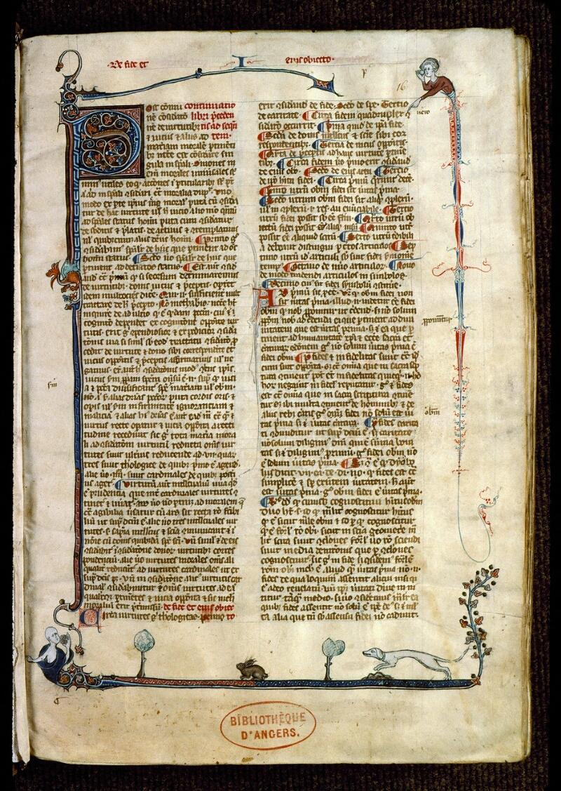 Angers, Bibl. mun., ms. 0216, f. 016 - vue 2