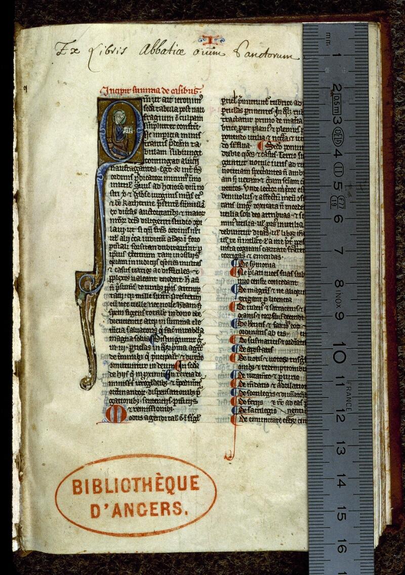 Angers, Bibl. mun., ms. 0220, f. 001 - vue 1