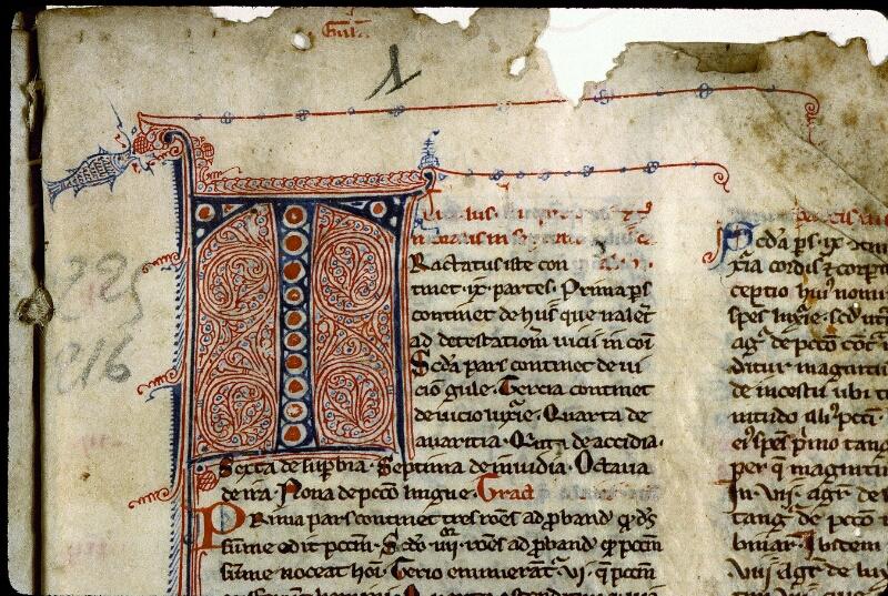 Angers, Bibl. mun., ms. 0225, f. 001 - vue 3
