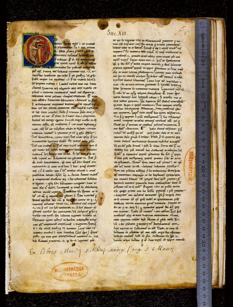 Angers, Bibl. mun., ms. 0242, f. 001 - vue 1