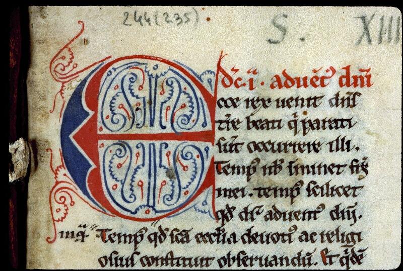 Angers, Bibl. mun., ms. 0244, f. 001 - vue 3