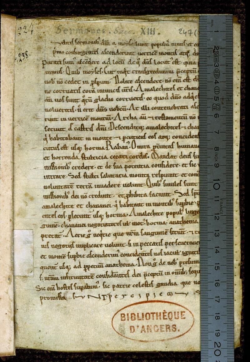 Angers, Bibl. mun., ms. 0247, f. 001 - vue 1