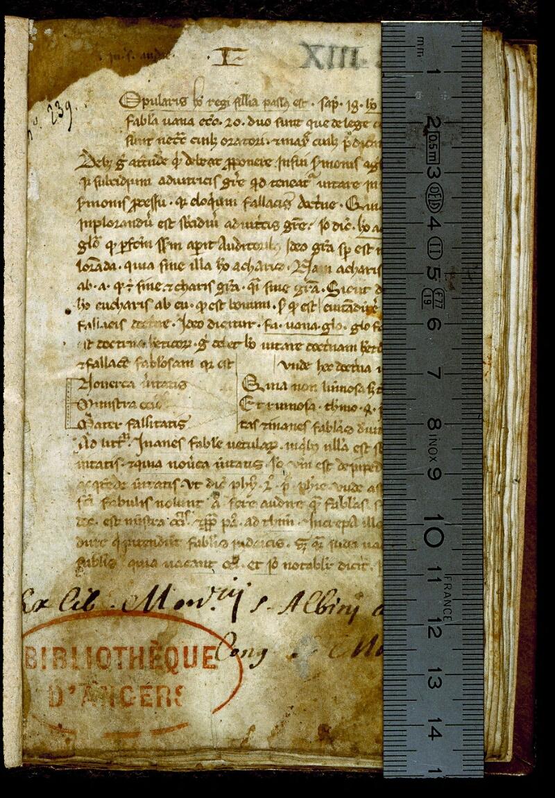 Angers, Bibl. mun., ms. 0248, f. 001 - vue 1