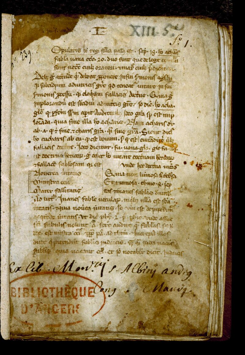 Angers, Bibl. mun., ms. 0248, f. 001 - vue 2