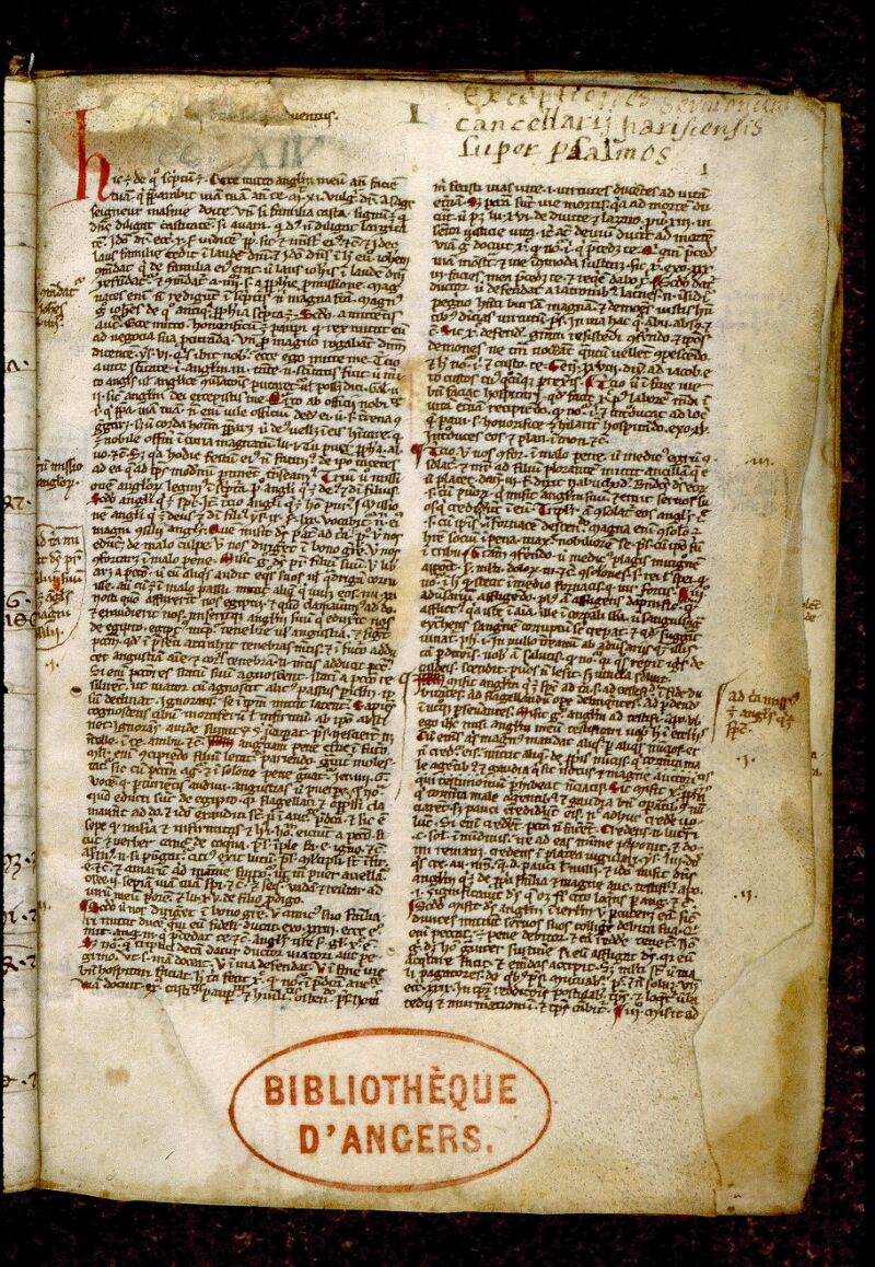Angers, Bibl. mun., ms. 0249, p. 001 - vue 2
