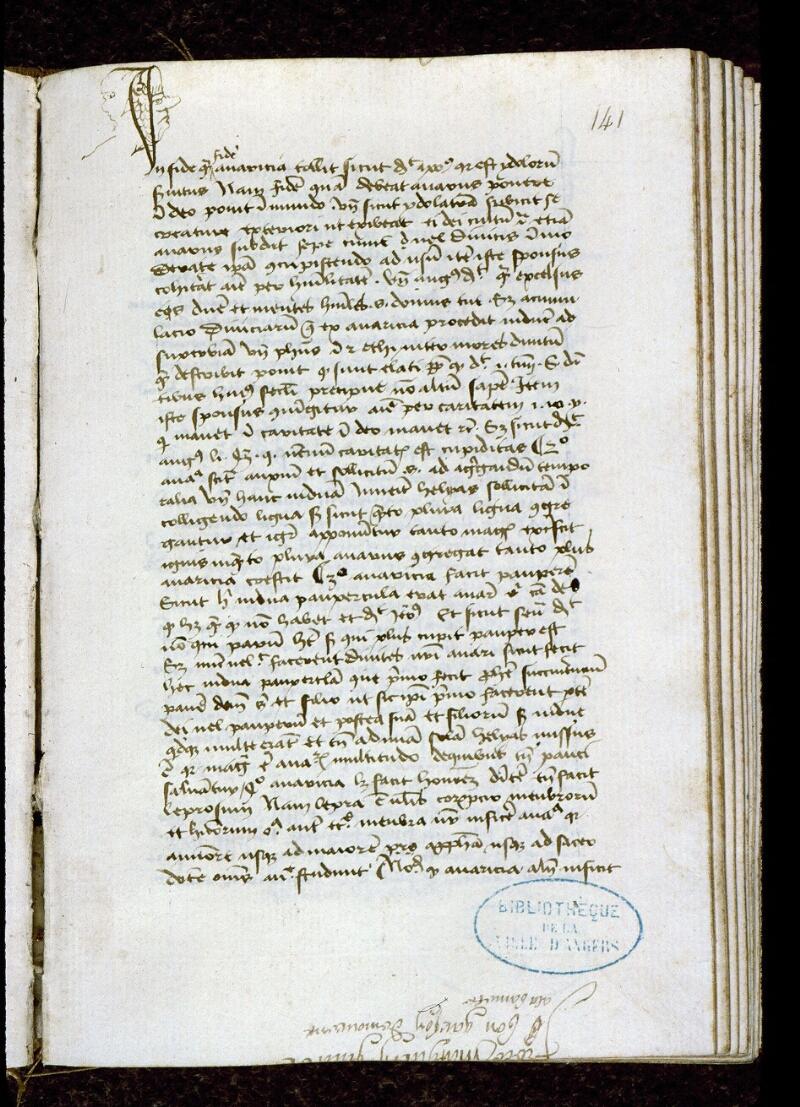 Angers, Bibl. mun., ms. 0257, f. 141