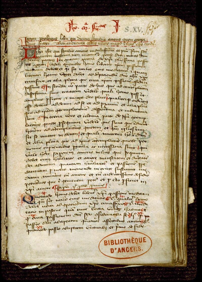 Angers, Bibl. mun., ms. 0263, f. 001 - vue 2