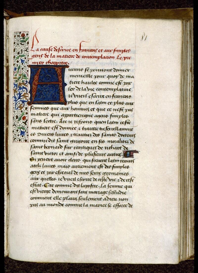 Angers, Bibl. mun., ms. 0269, f. 081 - vue 1