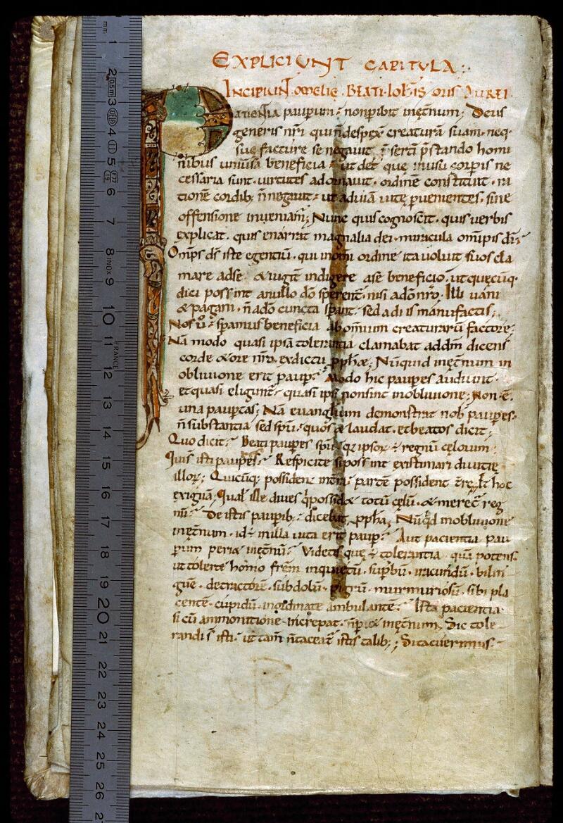 Angers, Bibl. mun., ms. 0280, f. 001v - vue 1